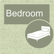 Load image into Gallery viewer, Dementia Friendly Bedroom Door Sign