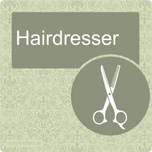 Load image into Gallery viewer, Dementia Friendly Hairdresser Door Sign