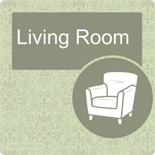 Load image into Gallery viewer, Dementia Friendly Living Room Door Sign
