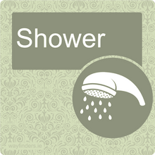 Load image into Gallery viewer, Dementia Friendly Shower Door Sign