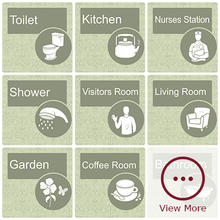Load image into Gallery viewer, Dementia Room/Door Sign - Veridian Green