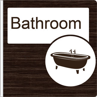 Dementia Friendly Projecting Bathroom Sign