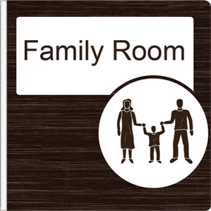 Dementia Friendly Projecting Family Room Sign