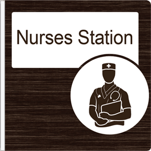 Dementia Friendly Projecting Nurses Station Sign