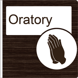 Dementia Friendly Projecting Oratory Sign