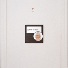Load image into Gallery viewer, Dementia Friendly Signage Personalised Room Sign Walnut