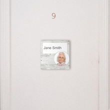 Load image into Gallery viewer, Dementia Friendly Signage Personalised Room Sign White