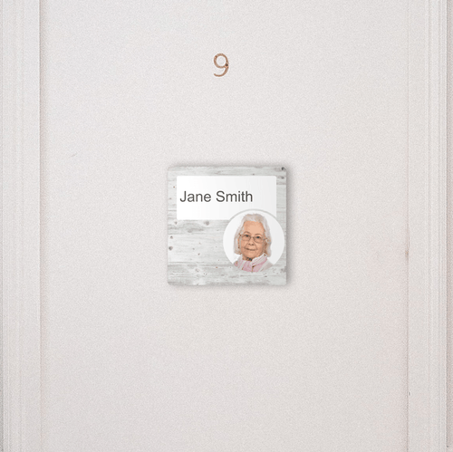 Dementia Friendly Signage Personalised Room Sign White