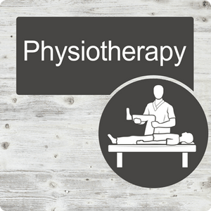Dementia Friendly Physiotherapy Door Sign