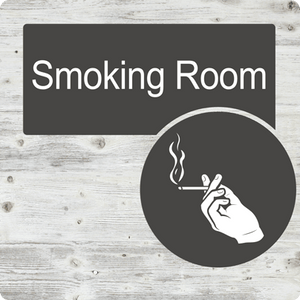 Dementia Friendly Smoking Room Door Sign