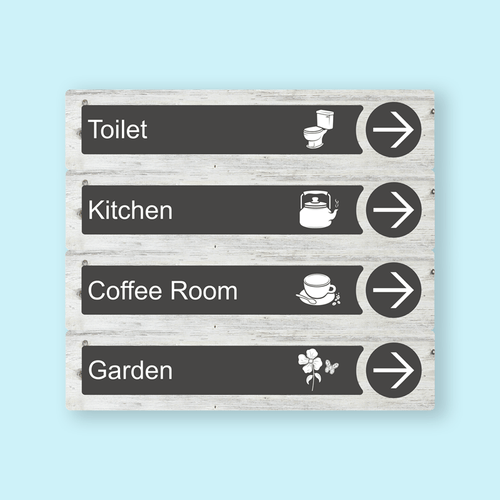 Directional Dementia Sign - White Pine - Signage for Care