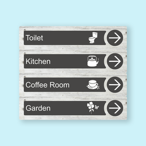 Directional Dementia Sign - White Pine