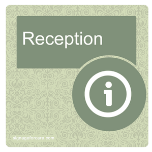 Dementia Room/Door Sign - Veridian Green