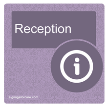 Load image into Gallery viewer, Dementia Sign - Heather Purple Door