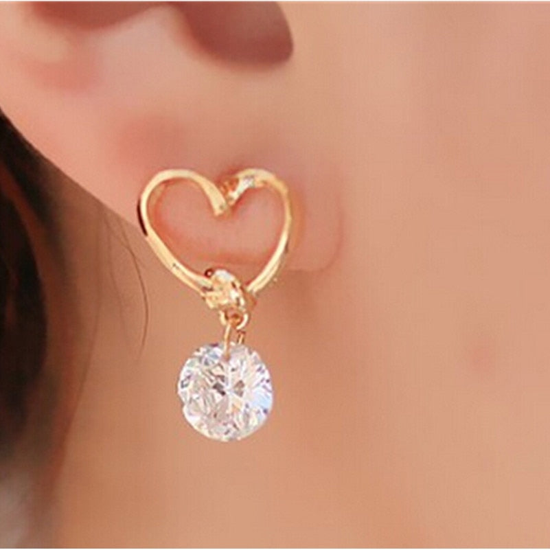 Trending  Blue Zircon Stud Earrings For Women & Girls