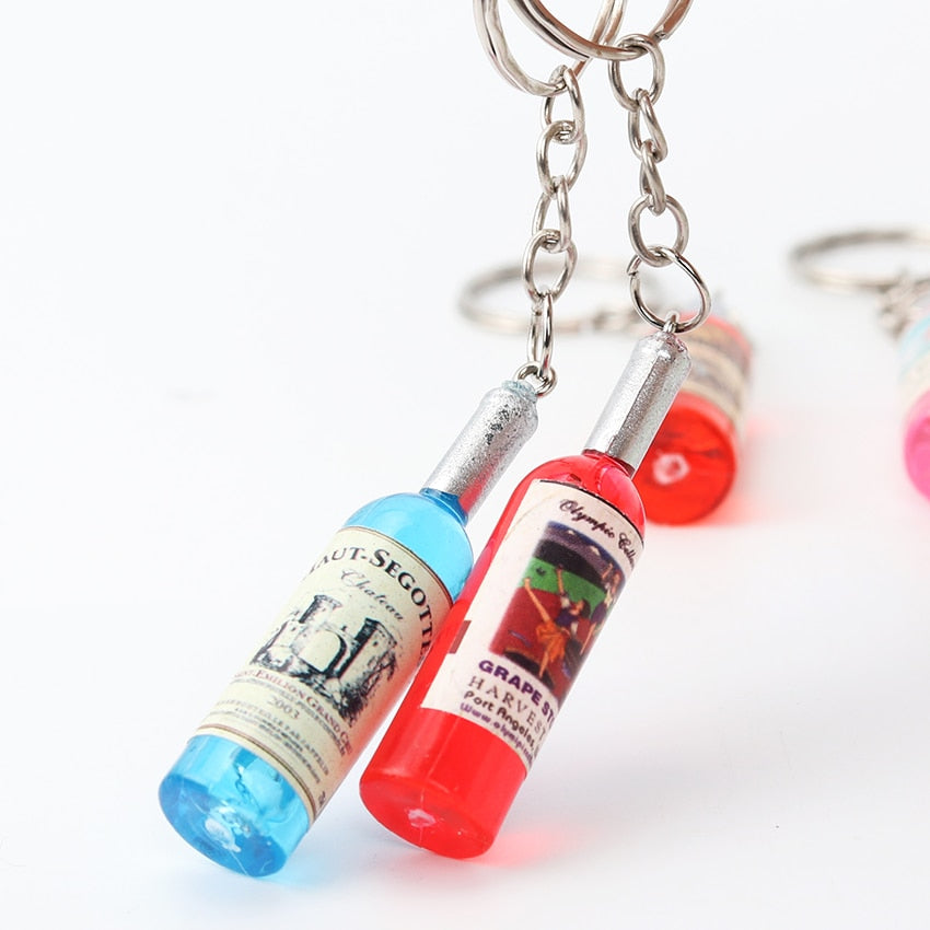 Beer Bottle Pendant Couple Keychain