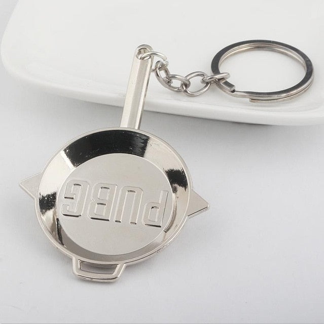 SG Fashion Black PUBG Frying Pan Keychain