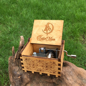 Antique Hand Crafted Wooden Music Box