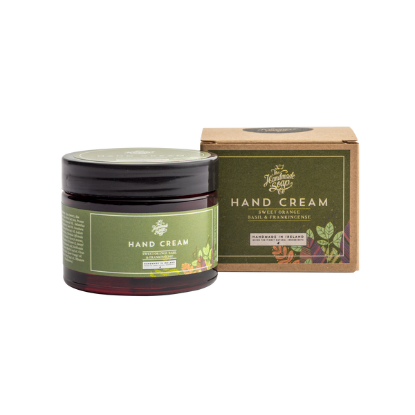 All Natural Environmentally Friendly Handmade Chemical Free Sweet Orange Frankincense Basil Essential Oil Hand Cream
