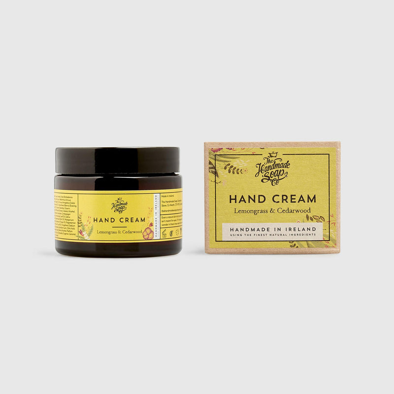 Handmade, Natural, Vegan and Cruelty Free Hand Cream. Scented with essential oils from Lemongrass & Cedarwood. In a Gift Box.