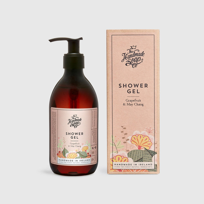 Handmade, Natural, Vegan and Cruelty Free Shower Gel. Scented with essential oils from Grapefruit & May Chang. In a Gift Box.