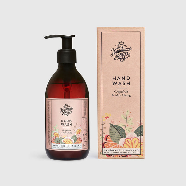 Handmade, Natural, Vegan and Cruelty Free Liquid Hand Wash. Scented with essential oils from Grapefruit & May Chang. In a Gift Box.