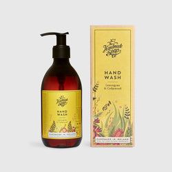 Handmade, Natural, Vegan and Cruelty Free Hand Wash. Scented with essential oils from Lemongrass & Cedarwood. Bottled in 100% recycled materials & presented in a Gift Box.