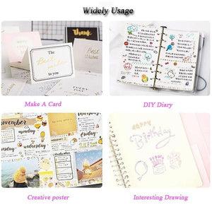 (Buy More Save More!!)Gift Card Writing&Drawing Double Line Outline Pen, 8 Colors