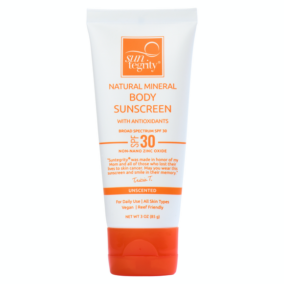 Suntegrity Unscented Natural Mineral Sunscreen for Body, SPF 30