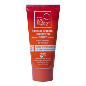 Suntegrity Natural Mineral Sport Sunscreen, SPF 30