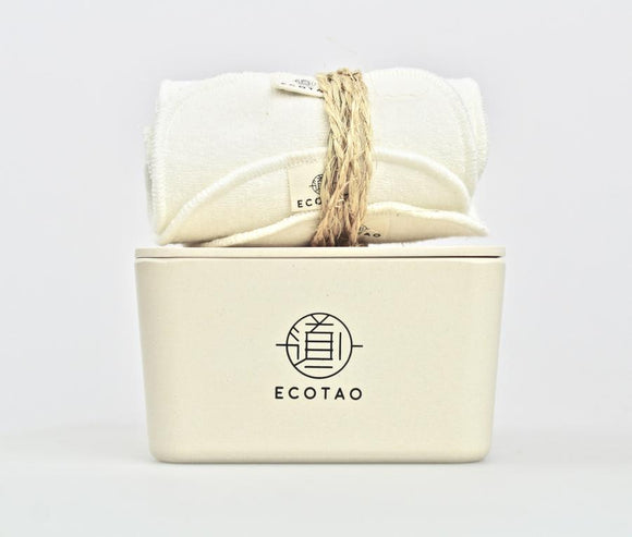 EcoTao Reusable Organic Cotton & Bamboo Facial Wipes