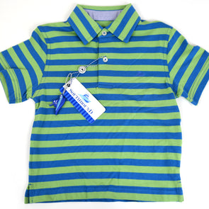 Blue & Green Boys Polo