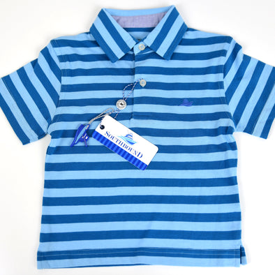 Blue & Blue Boys Polo