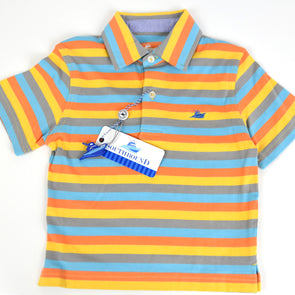 Mist, Orange & Grey Boys Polo
