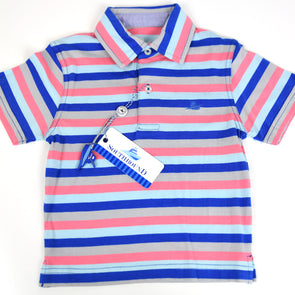 Royal Blue, Pink & Seafoam Boys Polo