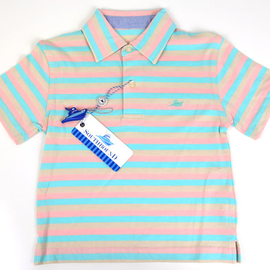 Salt, Aqua & Pink Boys Polo