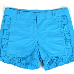 Blue Ruffle Shorts