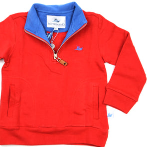 1/2 Zip Knit Pullover for Kids - Red