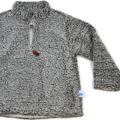 Sherpa Fleece Pullover for Kids - Gray on Gray