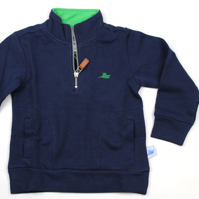 1/2 Zip Knit Pullover for Kids - Navy