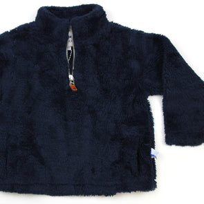 Sherpa Fleece Pullover for Kids - Navy