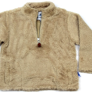 Sherpa Fleece Pullover for Kids - Khaki