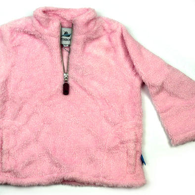 Sherpa Fleece Pullover for Kids - Pink
