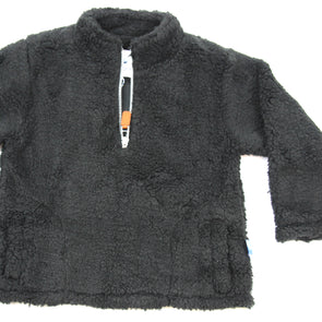 Sherpa Fleece Pullover for Kids - Gray