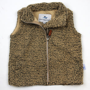 Sherpa Fleece Vest for Kids - Brown on Brown