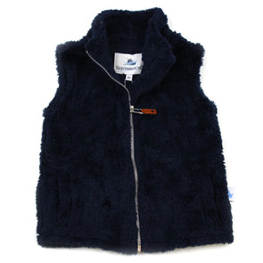 Sherpa Fleece Vest for Kids - Navy