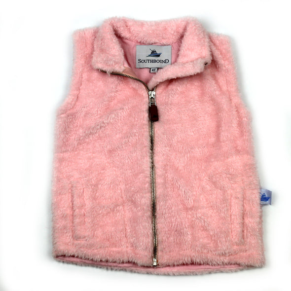 Sherpa Fleece Vest for Kids - Pink
