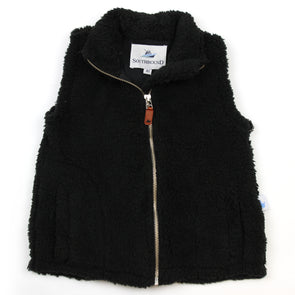 Sherpa Fleece Vest for Kids - Black
