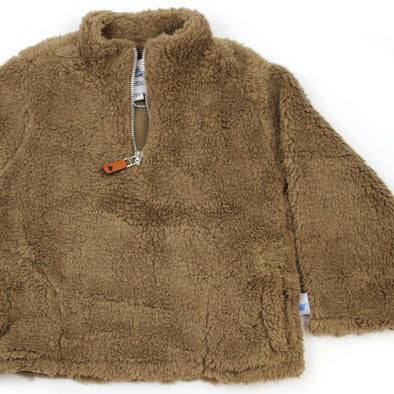 Sherpa Fleece Pullover for Kids - Mocha