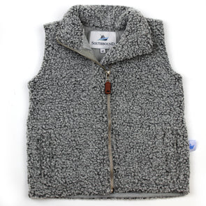 Sherpa Fleece Vest for Kids - Gray